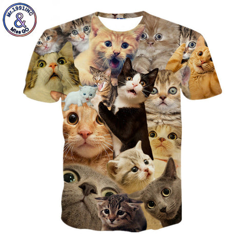 2017 NEW Surprised Cats T Shirt