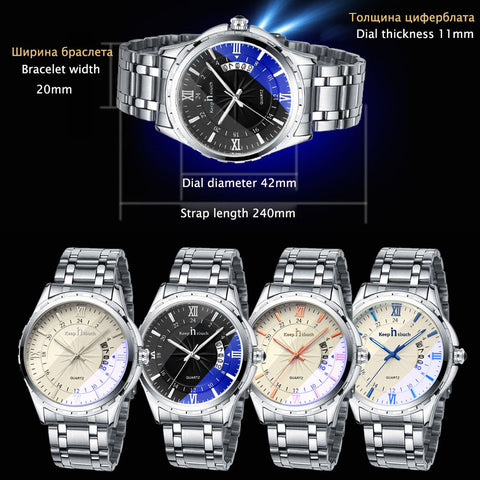 Mens Noctilucent Casual Watch