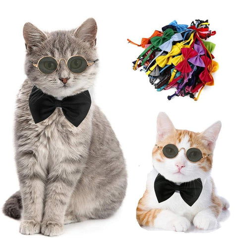 Adjustable Cat Bow Ties Cat Accessories GreatmyPet