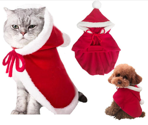 Adorable Santa Claus Pet Clothes. Dog Hoodies GreatmyPet XL