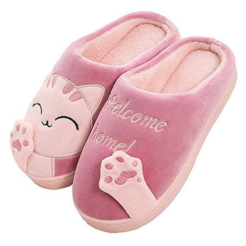 Cartoon Cat Slippers GreatmyPet Rosy Red 40-41