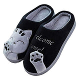 Cartoon Cat Slippers GreatmyPet Black 36-37