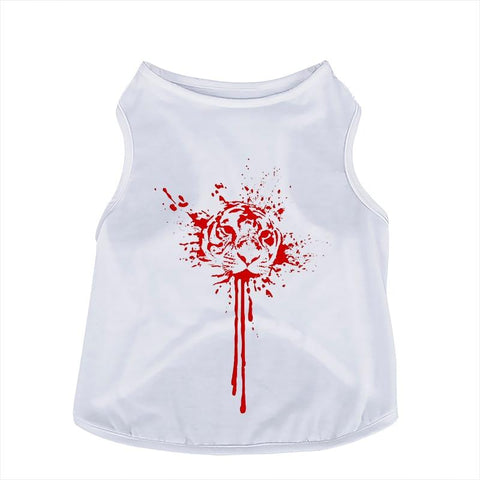 NEW Halloween 3D Lifelike Printing Pet shirts. Dog Vests GreatmyPet Blood Tiger S