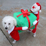 NEW Lovely Santa Claus Carry Gift Pet Clothes. Dog Coats & Jackets GreatmyPet