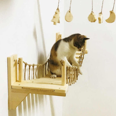 Wall-Mounted Cat Bridge Cat Lovers GreatmyPet