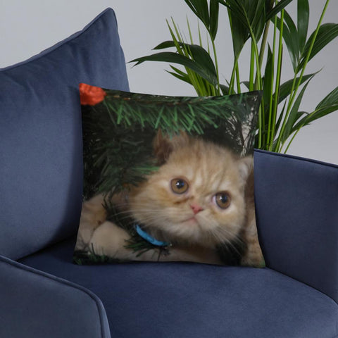 Personalize - Pet Printed Basic Pillow GreatmyPet