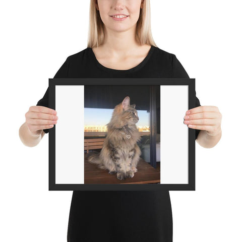 Personalize - Pet Framed poster GreatmyPet Black 12×16