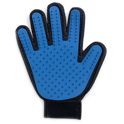 Pet Grooming Glove. Gentle, Efficient and Enhanced. GreatmyPet Blue-Left Hand