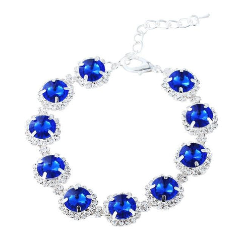 Choker Style Rhinestone Pearl Collar For Pet Pet Necklace GreatmyPet Gem Blue L 30CM Outside US
