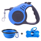 LuckyLeash-Leash with Built-in Water Bottle GreatmyPet Blue 5 M