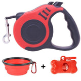 LuckyLeash-Leash with Built-in Water Bottle GreatmyPet Red 5 M