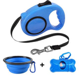 LuckyLeash-Leash with Built-in Water Bottle GreatmyPet Blue 2 5 M