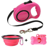 LuckyLeash-Leash with Built-in Water Bottle GreatmyPet Pink 2 5 M