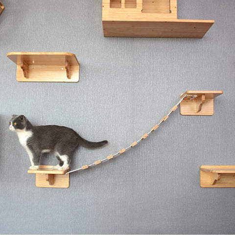 Cat Wooden Jumping Platforms Cat Lovers GreatmyPet