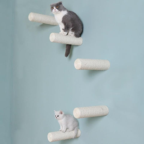 Wall-Mounted Sisal Scratching Post Cat Lovers GreatmyPet