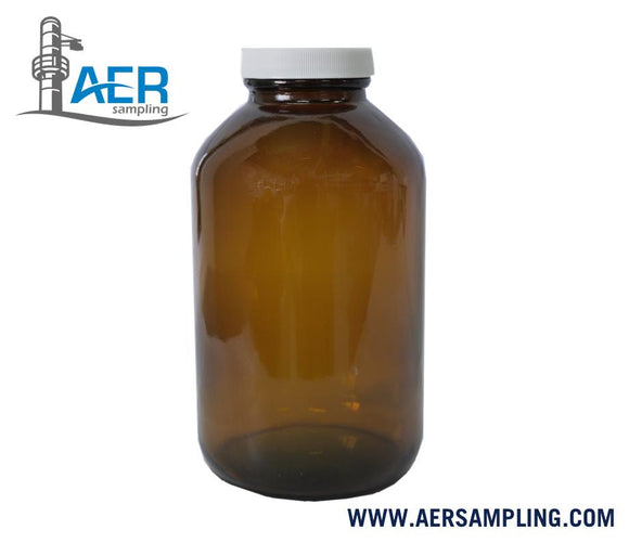PN-386 bottle amber glass wide mouth PTFE cover 1 liter a1