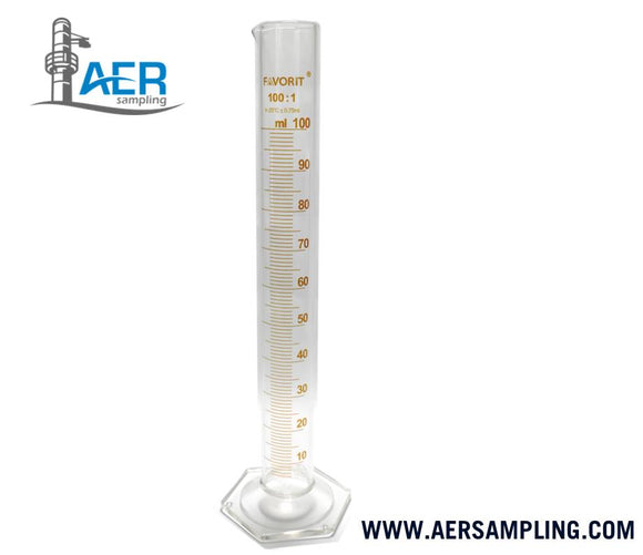 PN-391 graduated cylinder glass 100ml a1