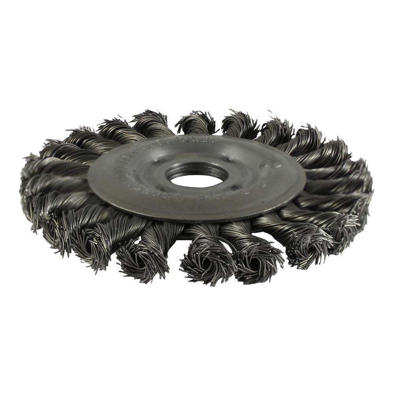 Timco Hole Wheel Brush-Twist Steel (125mm)