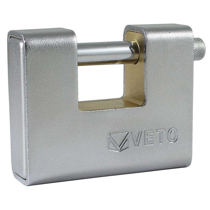 Timco Veto Armoured Brass Padlock (90mm)
