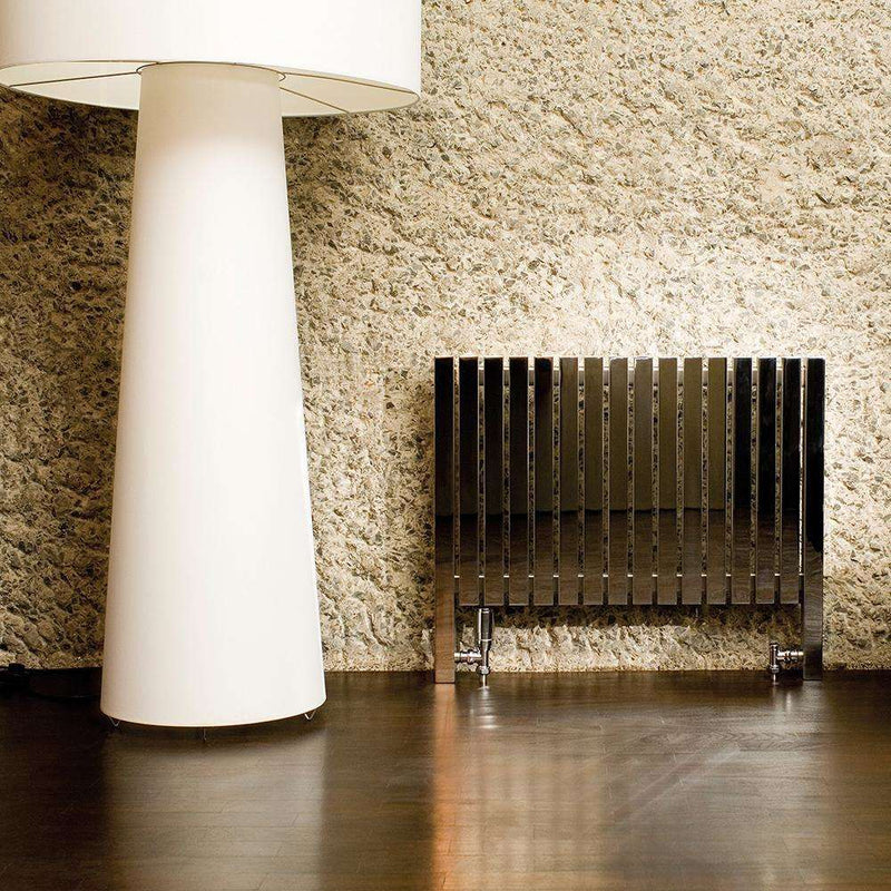Aeon Arat L Stainless Steel Designer Radiator - ARL3276S | 760mm x 1590mm | Brushed