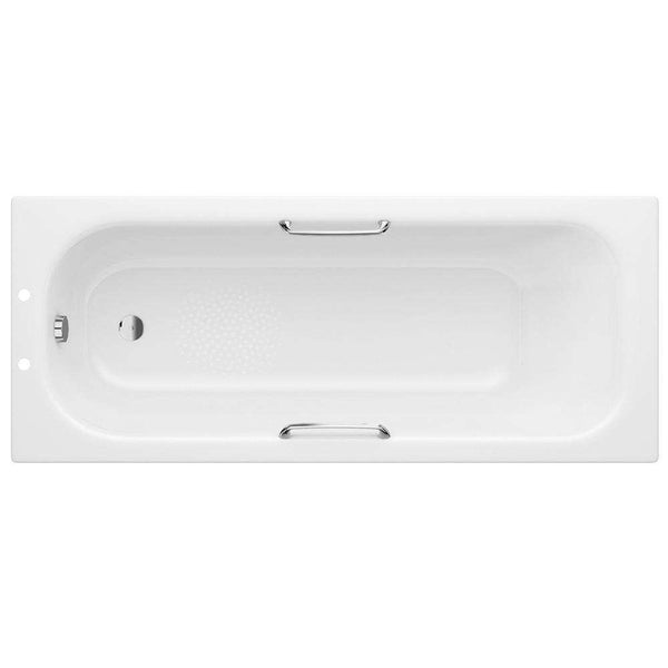 Steel Single End 1700mm x 700mm 2TH Bath with Grips & Anti-Slip