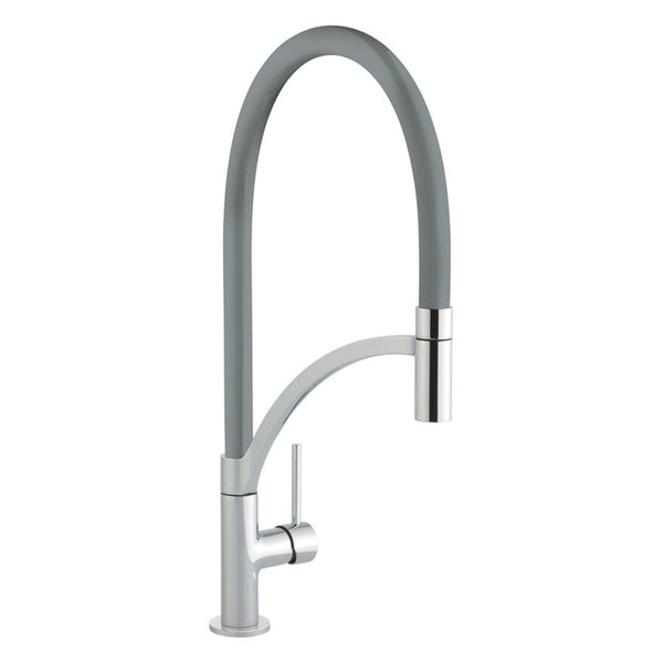 Prima+ Single Lever Pull Out Gun Metal Brushed Steel Mixer Tap | BPR712