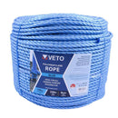 Timco Blue Poly Rope Long - Coil - 8mm x 220m