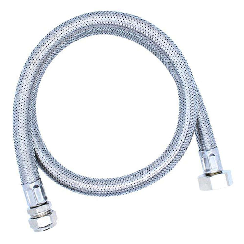 "Flexible Braided Hose Flex Connector (15mm x 3/4"", 900mm Extra Long)"