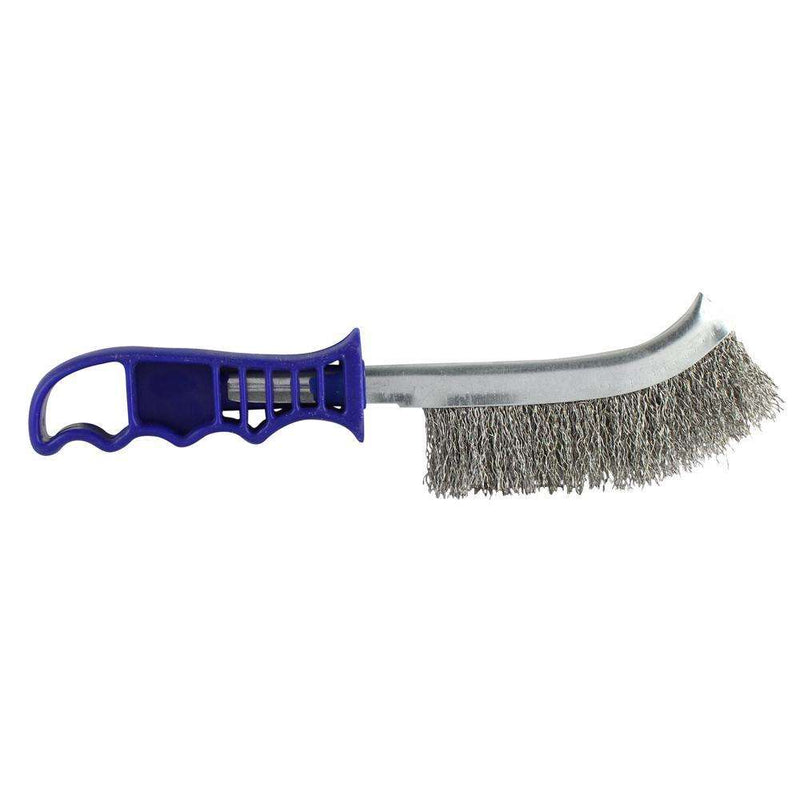 Timco Blue Handle Wire Brush S/Steel (255mm)