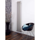 Aeon Bamboo Stainless Steel Designer Radiator - BAW118P | 1800mm x 80mm | Polished | MADE TO ORDER