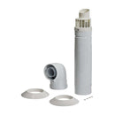 Baxi Standard Horizontal Telescopic Flue with Low Profile Elbow, White Terminal (60/100mm)