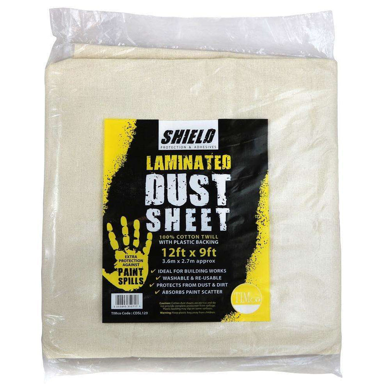 Timco Shield Dust Sheet - Laminated (12ft x 9ft)