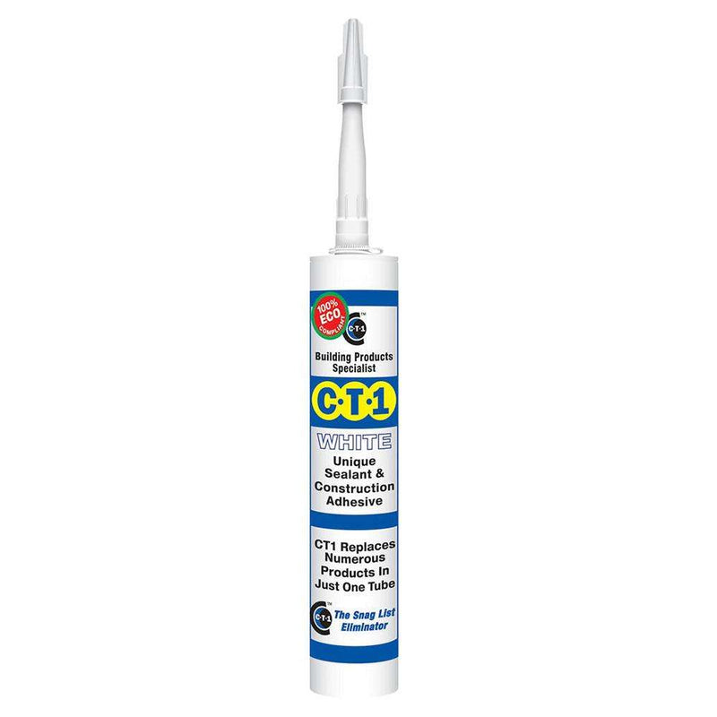 C-Tec CT1 White Sealant and Construction Adhesive 290ml