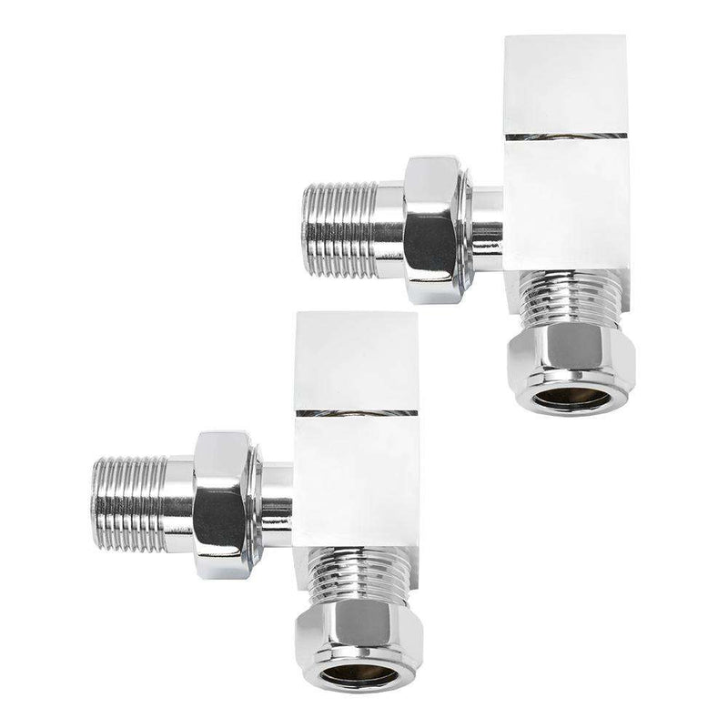 Aeon CUL850C Cubic-25 Manual Angled Radiator Valve and Lockshield Pack, Chrome