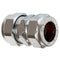 10mm Chrome Compression Coupling - WRAS Approved