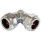 10mm Chrome Compression Equal Elbow 90° - WRAS Approved