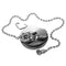 "Basin Plug with 12"" Ball Chain and Triangle, Chrome (Fits 1 1/4"" Waste)"