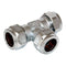 15mm Chrome Compression Equal Tee