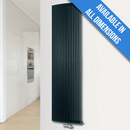Eucotherm Corus Curved Vertical Tube Designer Radiator, Anthracite - 1800mm x 430mm