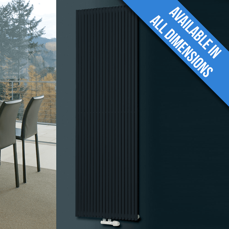 Eucotherm Corus Vertical Tube Designer Radiator, Anthracite - 1800mm x 600mm