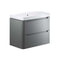 Lambra 800mm 2 Drawer Wall Hung Vanity Unit, Matt Grey