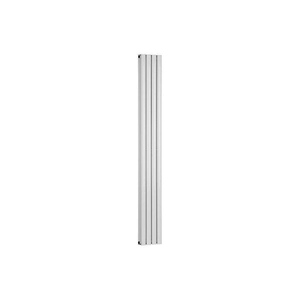 Cylindra Double Oval Tube Designer Radiator 1800mm x 236mm, White