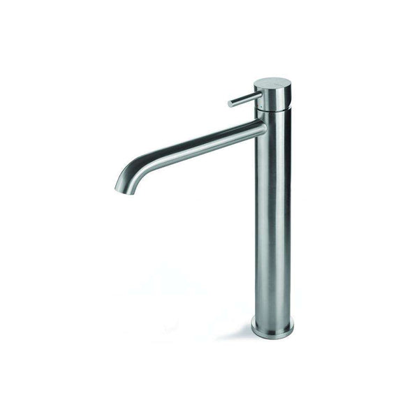 Vema Tiber Tall Basin Mixer Tap, Stainless Steel
