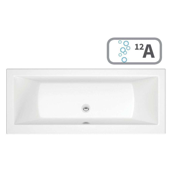 Solarna Supercast Double End 1700mm x 700mm 0TH Bath with Airspa System & LED