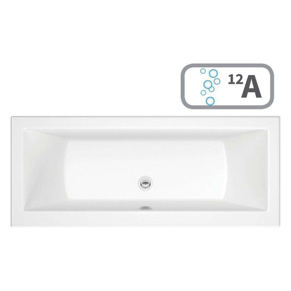 Solarna Supercast Double End 1700mm x 700mm 0TH Bath & Airspa System