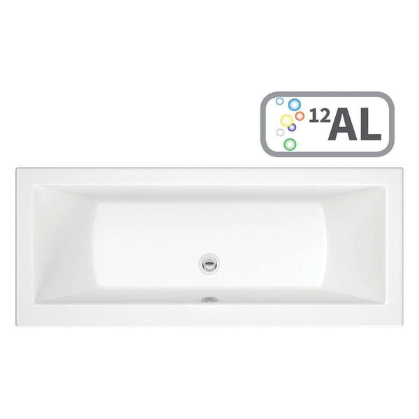 Solarna Supercast Double End 1800mm x 800mm 0TH Bath with Airspa System & LED