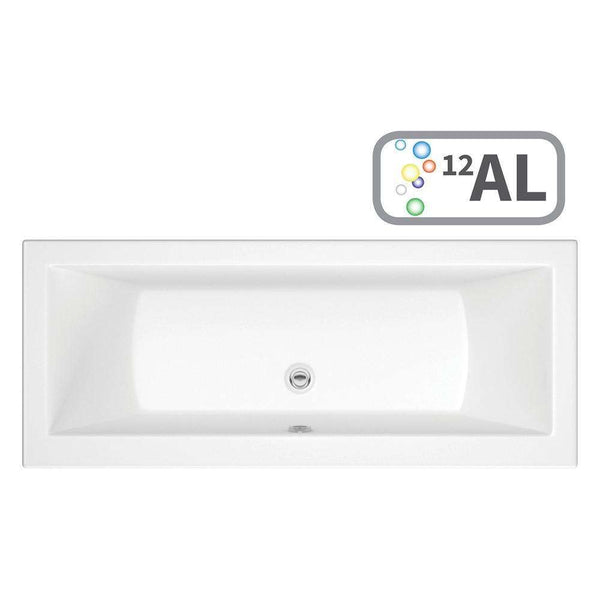 Solarna Supercast Double End 1700mm x 750mm 0TH Bath with Airspa System & LED