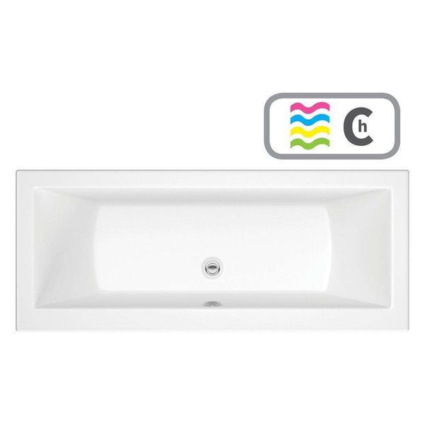 Solarna Supercast Double End 1800mm x 800mm 0TH Bath & Chromatherapy System