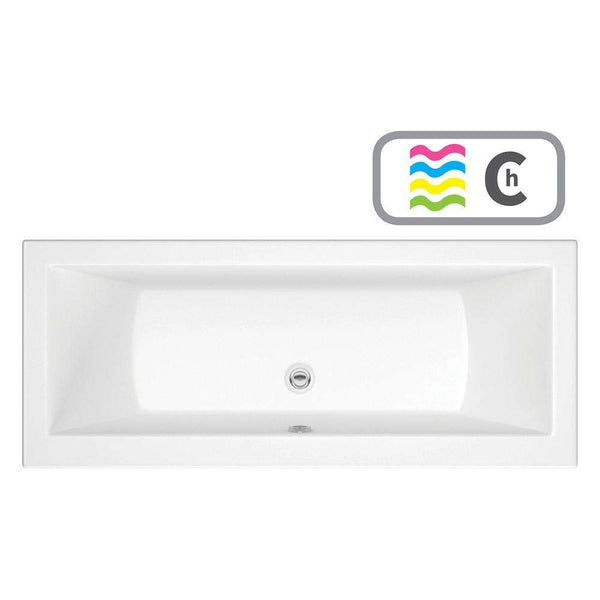 Solarna Supercast Double End 1700mm x 750mm 0TH Bath & Chromatherapy System