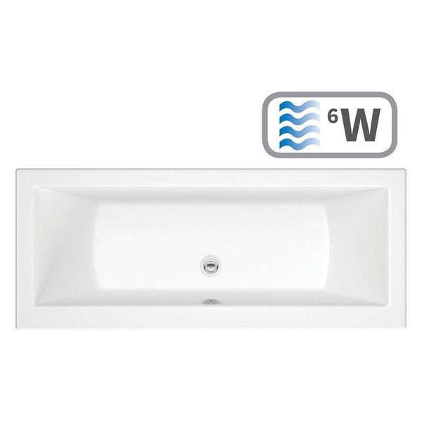 Solarna Supercast Double End 1800mm x 800mm 0TH Bath & Whirlpool System